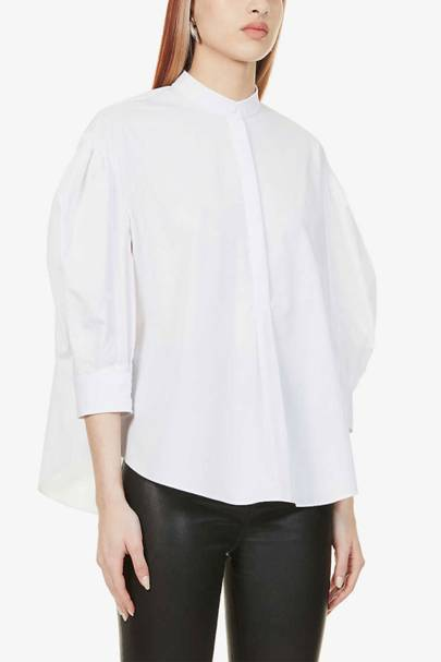 Best Women's White Shirts - Alexander McQueen