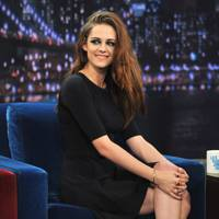 Kristen Stewart appears on the Late Night With Jimmy Fallon show