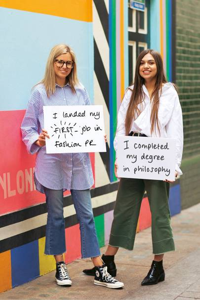 Alice (left), 22, and Lily-Rose (right), 22, both fashion PR assistants