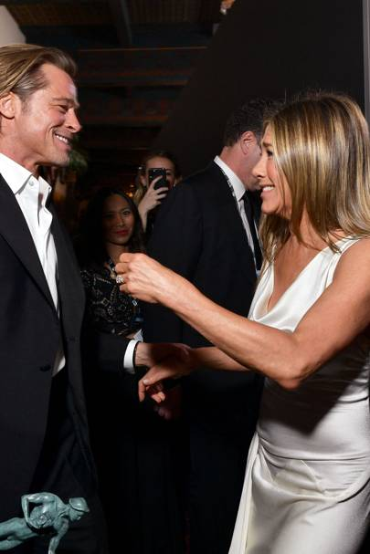 Brad and Jen reunited at the SAG awards and everyone lost their sh*t