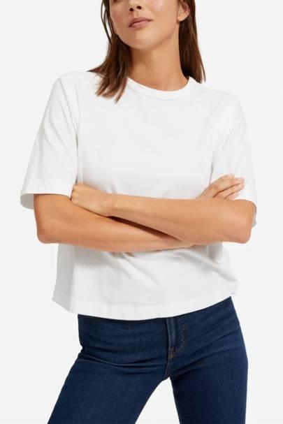 Best white t-shirt women: the boxy tee