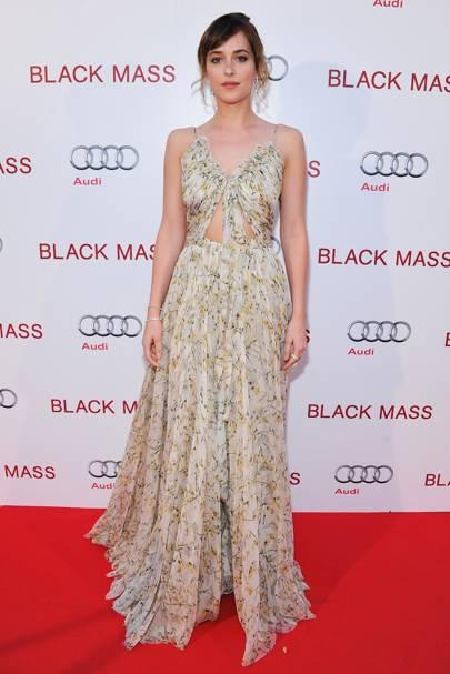 Dakota Johnson Went For A Alexander Mcqueen Gown At The Black M Film Premiere In Toronto
