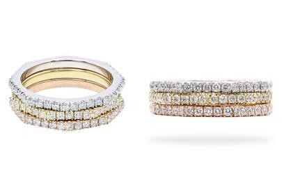 Shake & Stack Diamond Ring by Shirin Uma