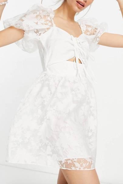 Best White Bridesmaid Dresses - Cutout Detail