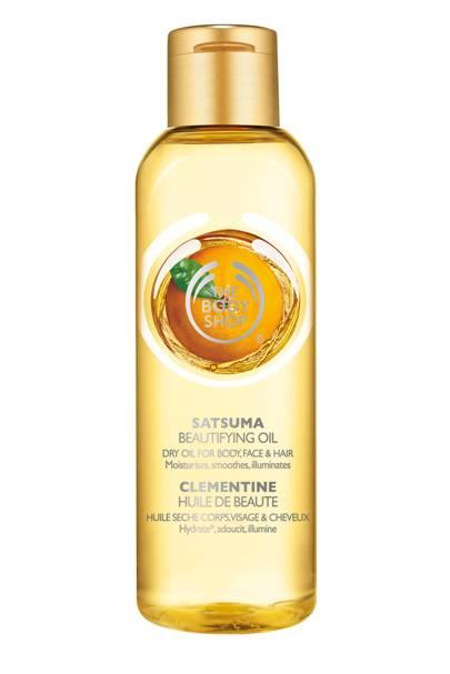 Body Shop Beautifying Oils in Satsuma, £9 for 100ml