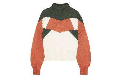 Designer colour-block jumper