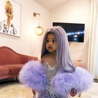 Stormi as Kylie at the Met Gala