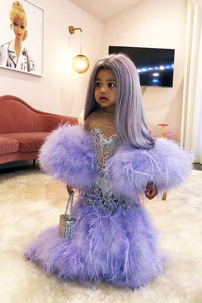 Stormi as Kylie at the Met Gala