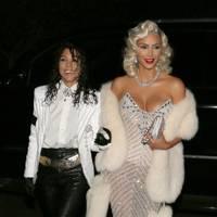 Kim and Kourtney as Michael Jackson and Madonna