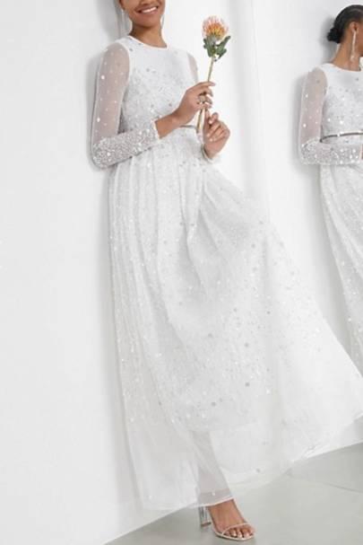Best ASOS wedding dress with sequins