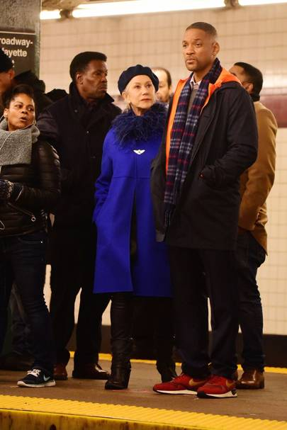 Will Smith and Helen Mirren in Collateral Beauty