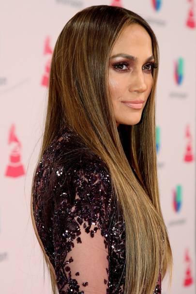 Jennifer lopez brown hair