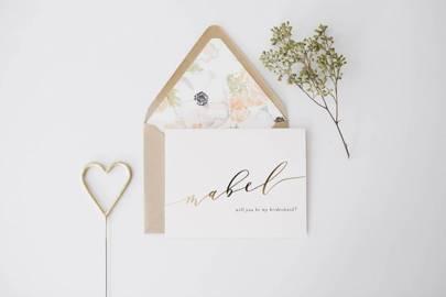 Best bridesmaid proposal card