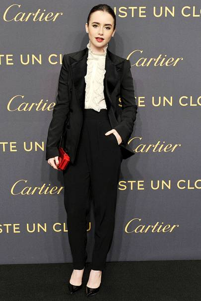 DO #6: Lily Collins at the  Cartier Juste Un Clou party, April