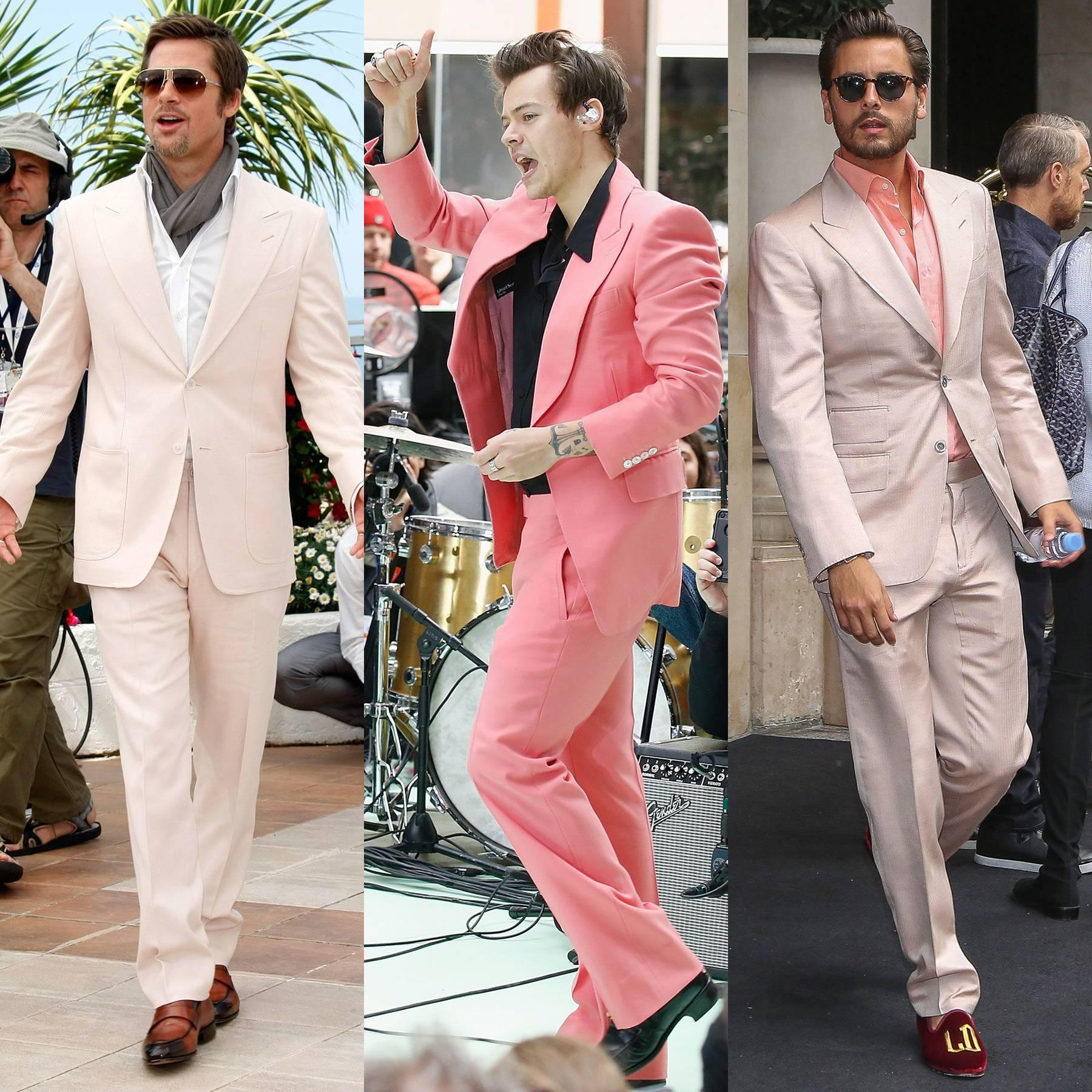 salmon shirt outfit men