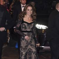 Kate Middleton in a sheer Alexander McQueen gown