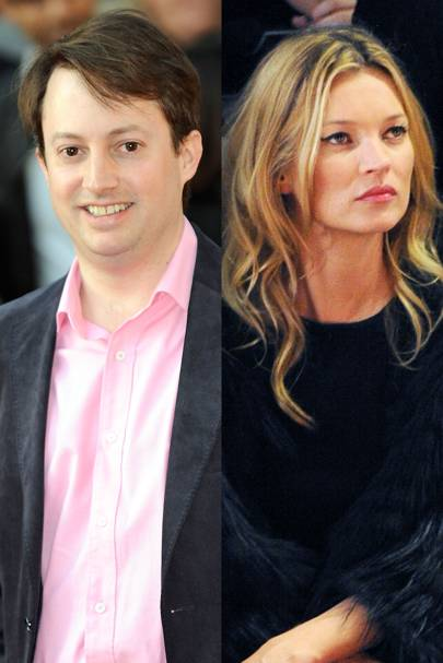David Mitchell and Kate Moss