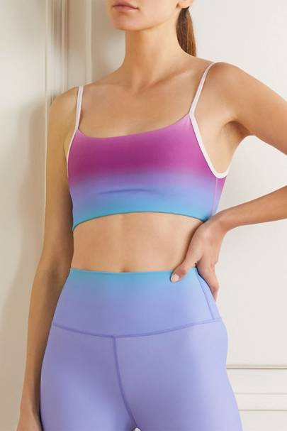 Best workout clothes: the ombre sports bra