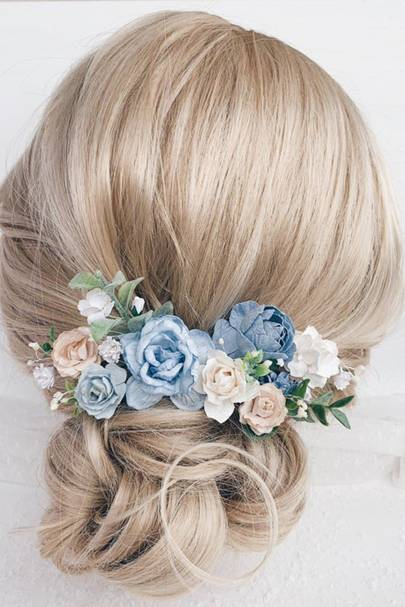 Blue hair pins