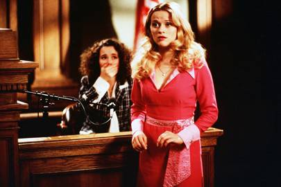 """I'm Elle Woods and this is Bruiser Woods. We're both Gemini vegetarians."""