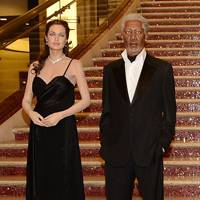 Angelina Jolie and Morgan Freeman