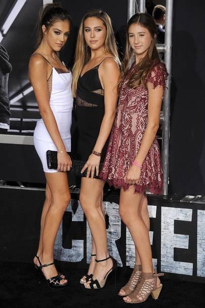 Sophia, Sistine & Scarlet Stallone