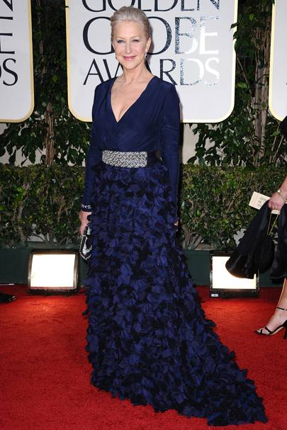 Helen Mirren at the Golden Globes 2012