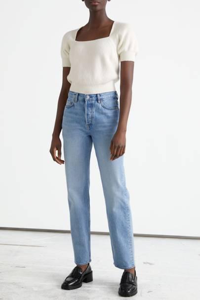 Best straight leg jeans: Organic cotton