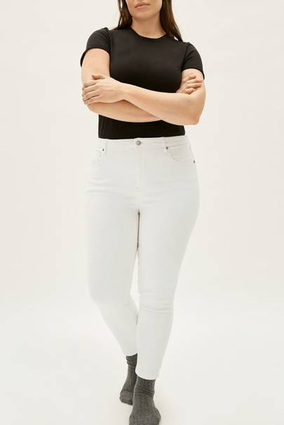 Best white jeans for curvy