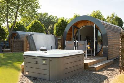 Best glamping pod with hot tub