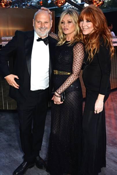 Sam McKnight, Kate Moss and Charlotte Tilbury