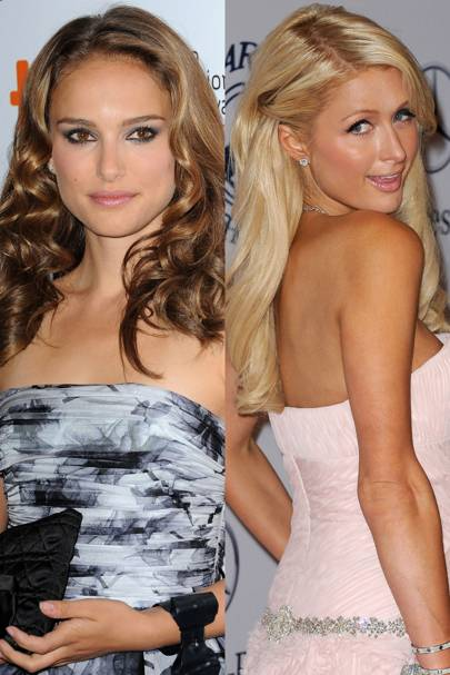Natalie Portman and Paris Hilton