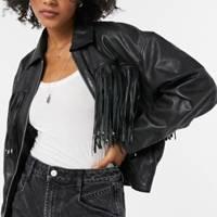 Leather coats: the fringed jacket