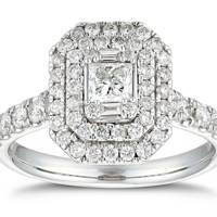 Victoria Beckham-Inspired Engagement Rings - Halo Stones