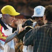11. Eminem fights a puppet