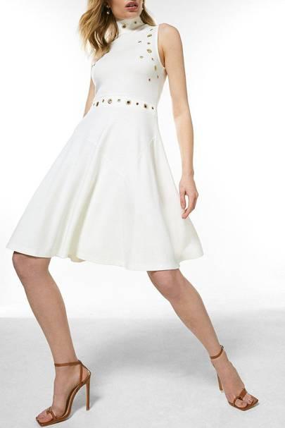 Best White Bridesmaid Dresses - Swirly Skirt