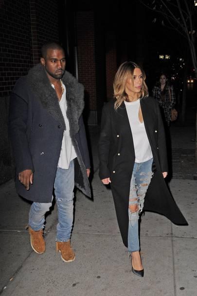 Kim Kardashian & Kanye West - Celebrity Couples Who Dress In Matching Outfits: Jennifer Aniston