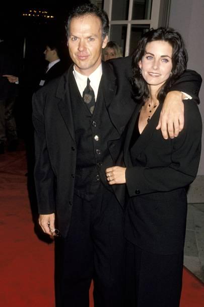 Michael Keaton & Courteney Cox
