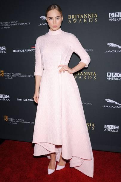 Suki Waterhouse at the 2013 BAFTA LA Britannia Awards