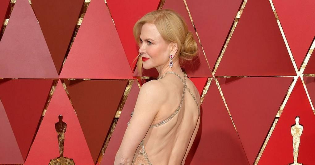 Nicole Kidmans Dress Straps Broke During the Oscars 2017