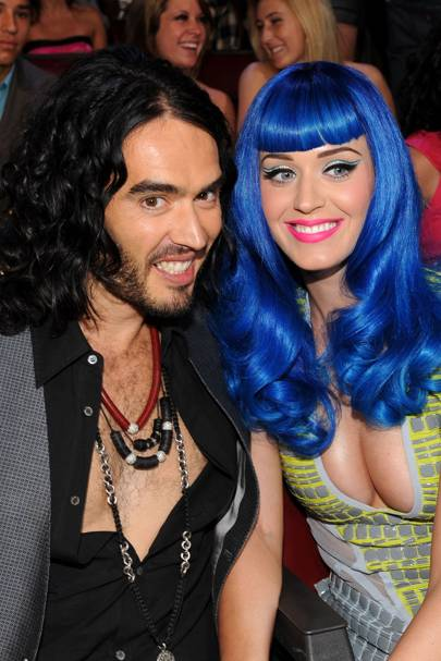 Russell Brand and Katy Perry are loved up