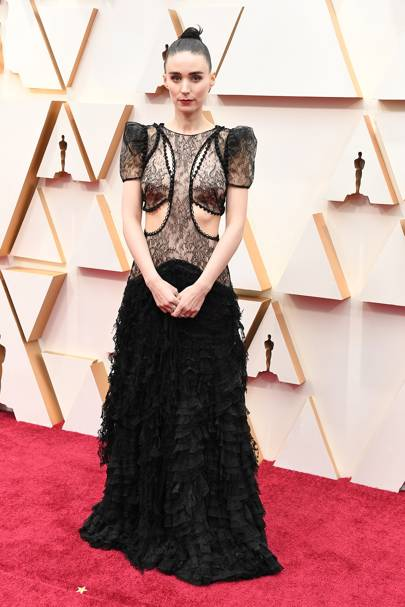 Rooney Mara wearing Alexander McQueen at the Oscars