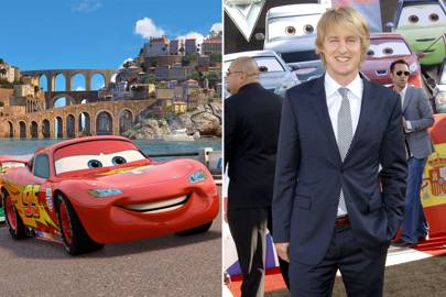 Owen Wilson as Lightening McQueen in Cars