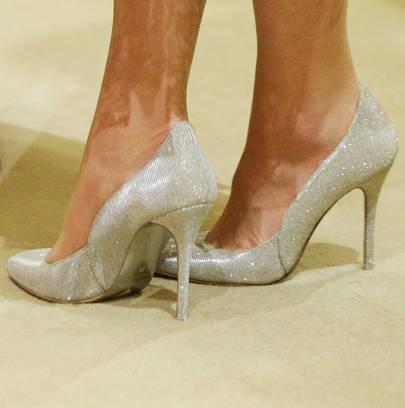da47db0f937ea Kate Middleton Oscar De La Renta sparkly heels | Glamour UK