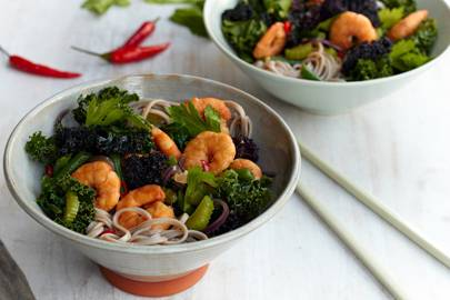Sirtfood review adele book recipes glamour uk asian king prawn stir fry with buckwheat noodles forumfinder Image collections