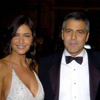 George Clooney and Lisa Snowdon were loved-up