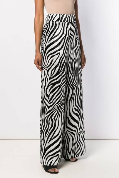 Zebra Print Trousers - Sara Battaglia
