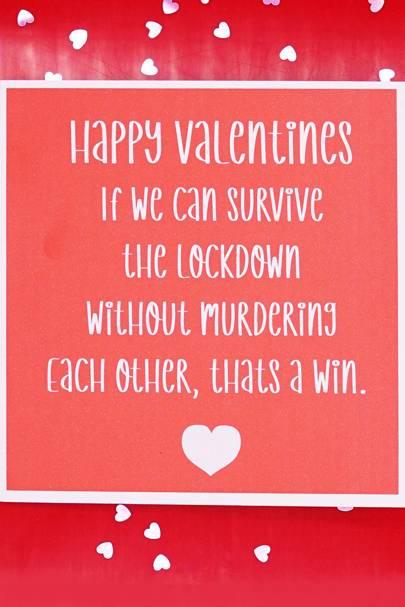 Best lockdown Valentines Day card