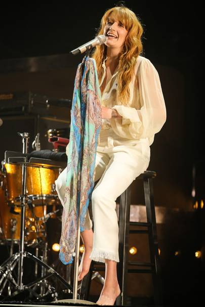 Florence's Epic performance…and subsequent broken foot