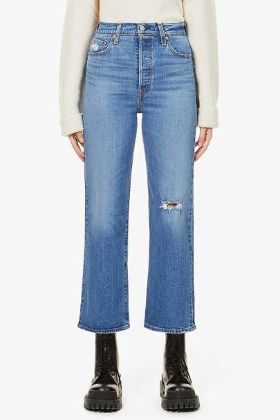 Best straight leg jeans: Ripped detail